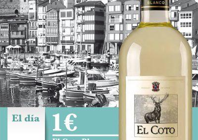 Poster promocional en horeca - El Coto de Rioja (blanco)