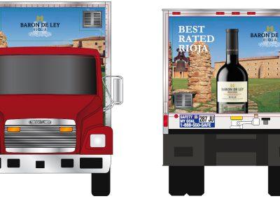 rotulacion camion barón de ley