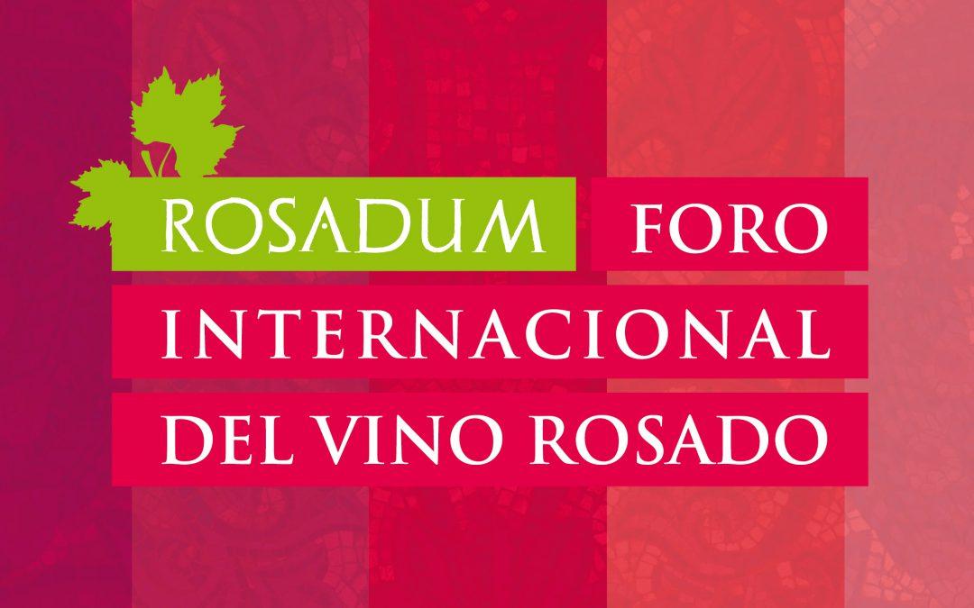 Diseño gráfico del I Foro Internacional del Vino Rosado